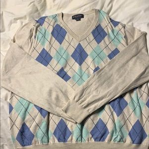 Men's Brooks Brothers v neck sweater